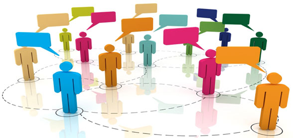 Social Media Network - showing people connecting through the use of social media websites.